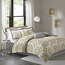 yellow king size comforter.  Size Comfort Spaces  Venice Cotton Comforter Set 6 Piece Medallion Pattern  Yellow For Yellow King Size