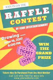 Prize Draw Tickets Draw Tickets Template Free Raffle Ticket Prize Drawing Door