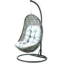 hanging chair rattan garden seat maze furniture grey outdoor egg shaped gar