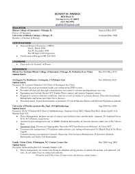 Examples Resumes Resume Format For Teachers Job In Optometric