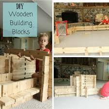 these diy wooden building blocks for kids are the best toy for imagination and can be