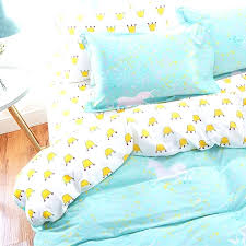 unicorn comforters bedclothes cotton crown bedding set teen twin full double queen single king size duvet