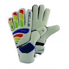 Sells Total Contact Elite Aqua Soccer Goalkeeper Gloves White Multi Color
