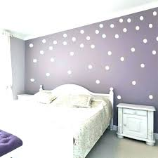 rose gold wall decal polka dot plus white dots on a purple in falling decals wa