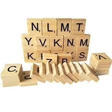 Wooden Game Pieces Bulk Amazon 100 Wood Scrabble Tiles NEW Scrabble Letters Wood 97
