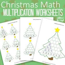 Christmas Math Worksheets Multiplication Tree - Itsy Bitsy Fun