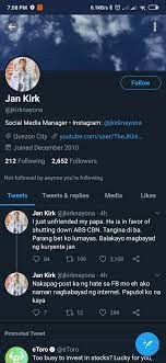 """Jericho Rayel Timbol on Twitter: """"Jan Kirk stood for what is right.… """""""