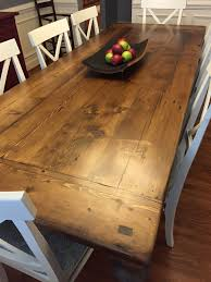 Image Custom Reclaimed Wood Dining Table With 2 Blacks Farmwood Reclaimed Wood Dining Table With 2
