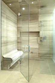 lineup of linear shower drains tile plumbing supplies bath concrete slabs