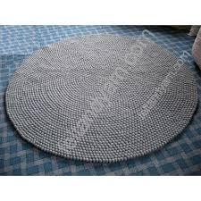 150 cm friar gray color felt ball rug
