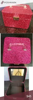 victoria s secret pink glitter makeup case great condition bags cosmetic cases