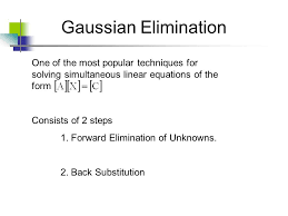 gaussian elimination one of the most popular techniques for solving simultaneous linear equations of the form