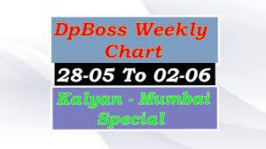 Satta Matka Dpboss Kalyan Mumbai Weekly Matka Guessing Chart