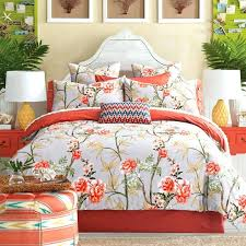 orange duvet cover king king size fl sheets orange and white duvet cover king