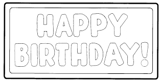 Black And White Birthday Clipart Image Group 85
