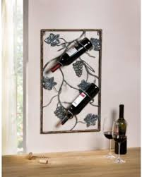 3 bottles metal wall hanging wine rack with decorative grape vines wall art on wine and grapes metal wall art with bargains 20 off 3 bottles metal wall hanging wine rack with