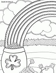 Pot Of Gold Color Sheets Rainbow With Pot Of Gold Coloring Pages Coloring Home