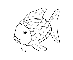 coloring pages rainbow fish to print 20h free for kids
