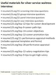 Cv For A Waiter Waitress Example No Experience Restaurant Resume ...