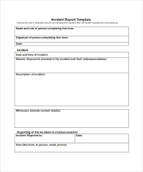 Sample Incident Report Health And Safety Incident Report