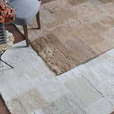 thick pile tufted cotton area rug 5 x 8 geometric textured squares inside textured area rugs textured area rug