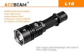 Đèn Pin ACEBEAM L16 Chiếu Xa 600m - Hỗ Trợ Gắn Súng