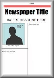 Editable Newspaper Template Word Literacy