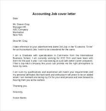 Best Accounting Cover Letter Best Accounting Cover Letters Sample