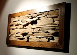 i d paint the frame but i like the framed river driftwood wall driftwood wall decor simple driftwood wall art