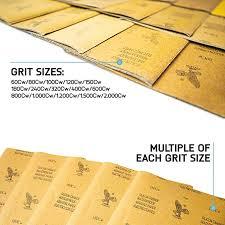 Automotive Sandpaper Grit Chart Zebbo Sandpaper 90pcs 9x11 60 2000 Lijadora De Madera