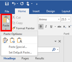 Word For Office Paste Options In Microsoft Office Word 2013 It Services