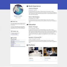 Materialize Resume Materialdesignthemescom