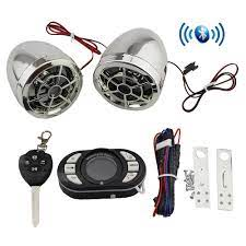 Motosiklet Bluetooth Hoparlörler FM Radyo MP3 Müzik Çalar Scooter Chopper  Cruiser Motor Güvenlik Alarm Telefon Görüşmesi Kesti Motosiklet  Aksesuarları - Lifefashion.news