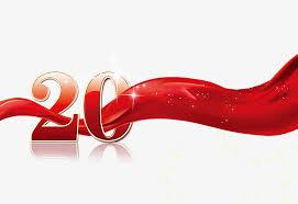 Anniversary Ribbon 20th Anniversary Ribbon Ribbon Clipart Digital Golden Png Image