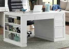 60 inch writing desk parker house catalina with power center and usb white