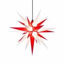 Herrnhuter Weihnachtsstern A7 Rot Weiß Aus Kunststoff Mit Beleuchtung