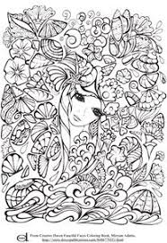 creative haven fanciful faces s 1 coloring pages printable and coloring book to print for free find more coloring pages for kids and s of