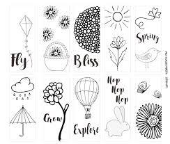 Spring Printable Coloring Page Bookmarks Kleinworth Co