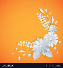 Design Paper Background Flower White Paper Flowers Floral Background