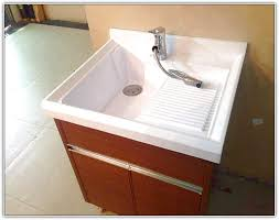 drop in laundry sink and washer drain pipe overflow