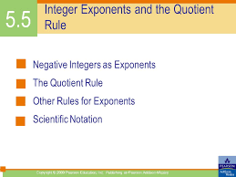 5.1 Rules for Exponents Review of Bases and Exponents Zero ...