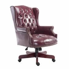 leather office chairs best of hom executive pu leather office chair brown