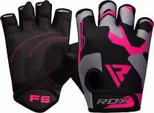 rdx las weight lifting gym gloves body building women fitness pink b