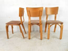 american set of mid century modern bentwood dining chairs by thonet for
