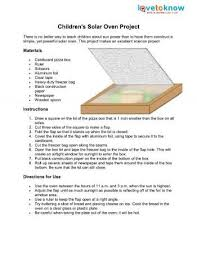 Solar Oven Temperature Chart Childrens Solar Oven Project Solar Oven Summer Science
