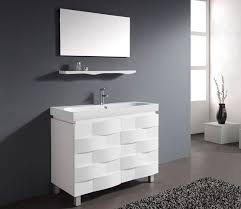 modern white bathroom cabinets. bathroom, modern white bathroom vanity furniture units feat long narrow rectangular sink design under frameless mirror set ~ fine you cabinets i