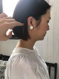 小顔効果のヘアスタイル 渋谷原宿美容室 切りっぱなしボブ黒髪ボブ