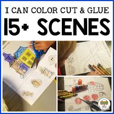 Cut out the sorting mats and the individual color cards. I Can Color Cut And Glue A Scene Pre K Printable Fun
