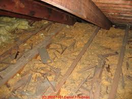Fiberglass Contamination Test Procedure for buildings & Photograph of chopped fiberglass insulation Adamdwight.com