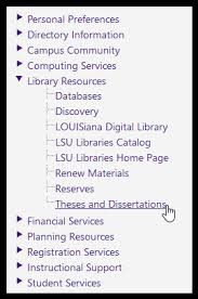 mylsu portal theses and dissertations grok knowledge base library resources theses and dissertations options in mylsu